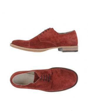 Обувь на шнурках 01000010 BY BOCCACCINI. Цвет: красно-коричневый
