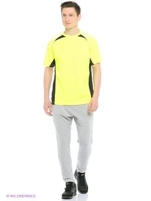 Футболка спортивная Trespass. Цвет: желтый