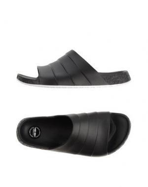 Домашние туфли FESSURA. Цвет: черный