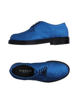 Обувь на шнурках GIENCHI. Цвет: синий
