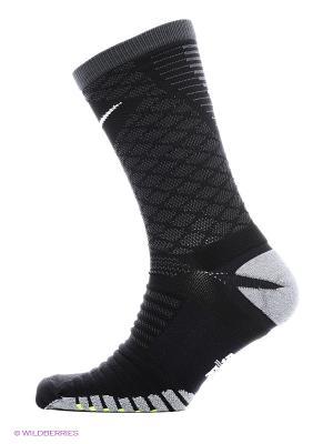 Носки U NK STRK TMPO CREW Nike. Цвет: черный, светло-серый