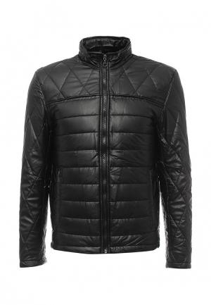 Куртка кожаная Vanzeer. Цвет: черный
