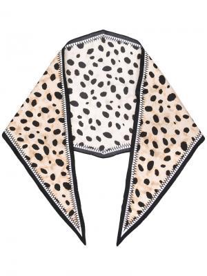 Шейный платок с леопардовым рисунком Haider Ackermann. Цвет: телесный