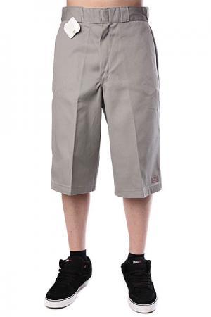 Классические мужские шорты  15 Work Short W/Cell Phone Pocket Silver Grey Dickies. Цвет: серый