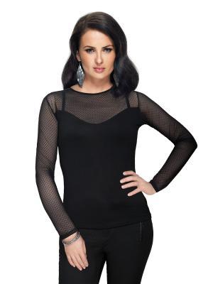 Блузка El Fa Mei. Цвет: черный