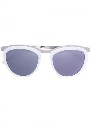 Солнцезащитные очки Comic Strip Smoke X Mirrors. Цвет: белый
