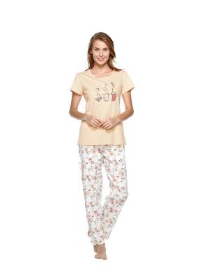 Пижама Kom. Цвет: персиковый