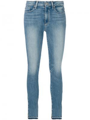 Облегающие джинсы Paige. Цвет: синий