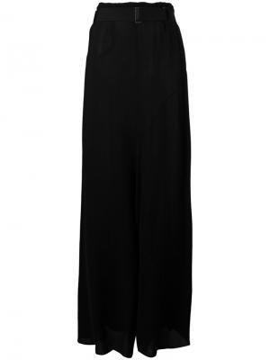 Длинная юбка с драпировкой Ann Demeulemeester. Цвет: чёрный