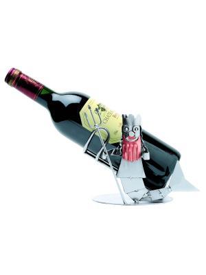 Украшение для бутылки Зодиак Водолей Hinz&Kunst. Цвет: темно-серый
