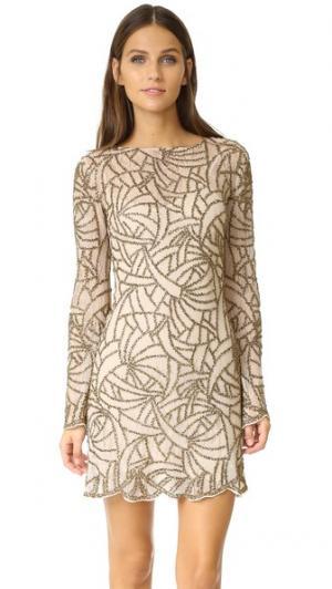 Платье Goldfinger Haute Hippie. Цвет: оранжевый калейдоскоп
