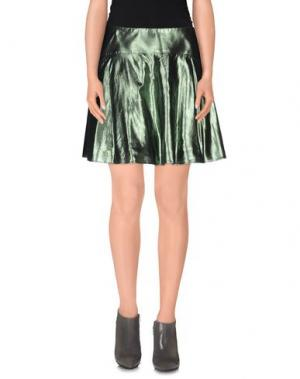 Мини-юбка MAURO GASPERI. Цвет: зеленый