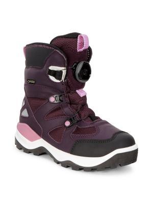 Ботинки ECCO. Цвет: черный, лиловый