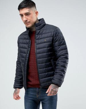 Farah Черная легкая дутая куртка Bosworth. Цвет: черный