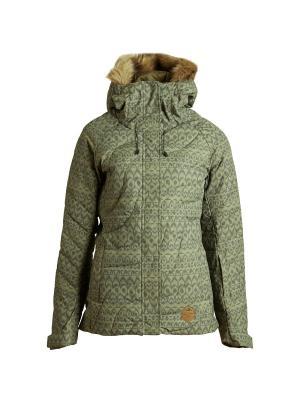Куртка ж SOFFYA (FW17) BILLABONG. Цвет: оливковый