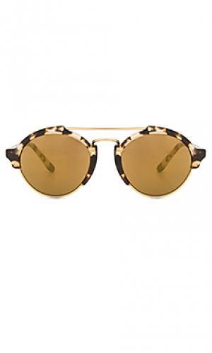 Солнцезащитные очки milan ii illesteva. Цвет: коричневый
