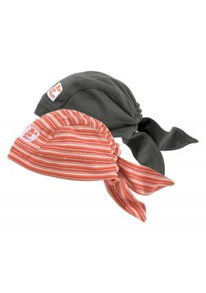 Бандана, 2 штуки KLITZEKLEIN. Цвет: темно-серый+оранжевый