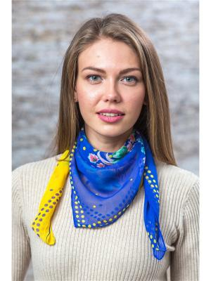 Платок Krife. Цвет: синий,желтый