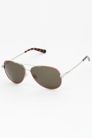 Очки солнцезащитные Valentino. Цвет: оранжевый