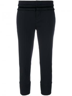 Укороченные брюки с оборками Dsquared2. Цвет: чёрный