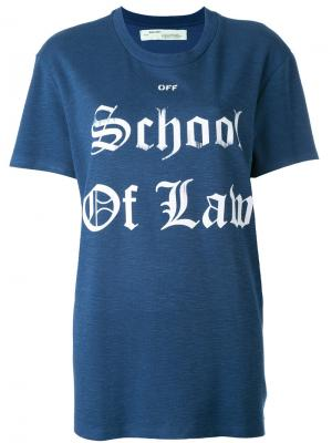 Футболка School of Law Off-White. Цвет: синий