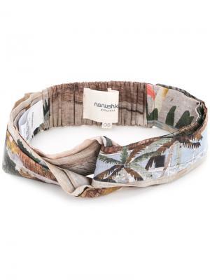 Printed hairband Nanushka. Цвет: коричневый