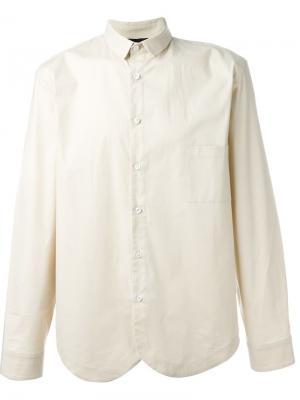 Рубашка с закругленным подолом Giuliano Fujiwara. Цвет: телесный