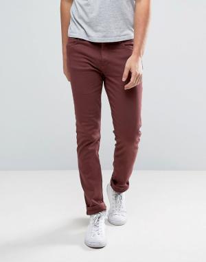 Waven Бордовые джинсы скинни. Цвет: красный