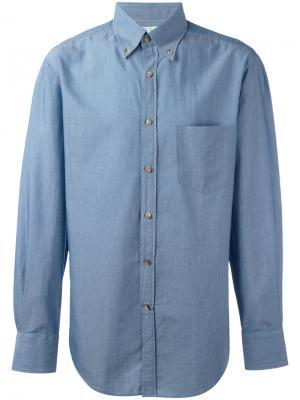 Джинсовая рубашка Brunello Cucinelli. Цвет: синий