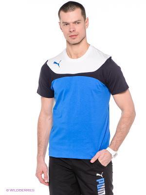 Футболка Esito 3 Leisure Tee Puma. Цвет: синий, белый, темно-синий