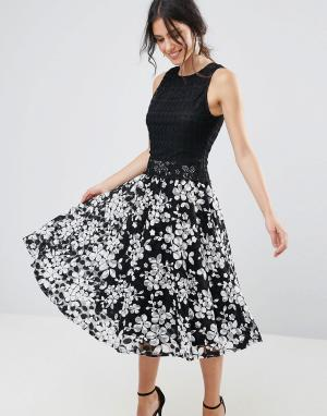 Uttam Boutique Приталенное платье. Цвет: черный