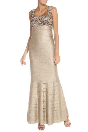 Платье Groupe JS. Цвет: бежевый