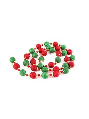 Декоративное украшение Бусы Русские подарки. Цвет: зеленый, красный