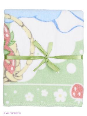 Одеяло Baby Nice. Цвет: белый, зеленый