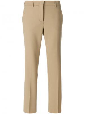 Укороченные брюки клеш Incotex. Цвет: телесный