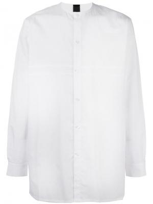 Объемная рубашка без воротника Odeur. Цвет: белый