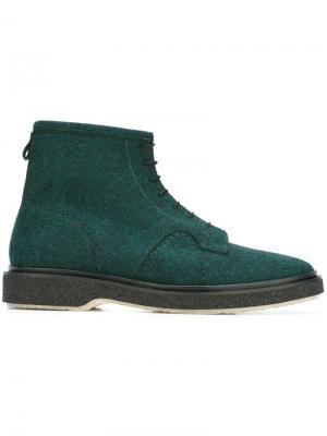 Ботинки на шнуровке Adieu Paris. Цвет: зелёный