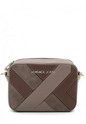 Сумка Versace Jeans. Цвет: коричневый