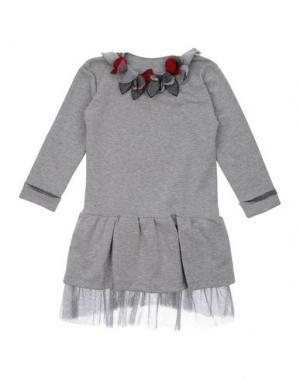 Платье MISS GRANT. Цвет: серый