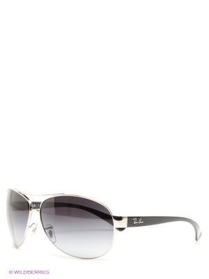 Очки солнцезащитные Ray Ban. Цвет: черный, серебристый