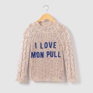 Пуловер с высоким воротником, надпись I Love,  3-14 лет IKKS JUNIOR. Цвет: розовый