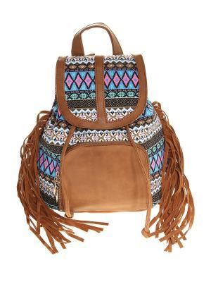 Рюкзак Olere. Цвет: коричневый, розовый, синий