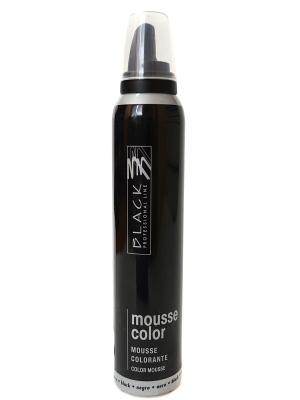 Цветной мусс для укладки волос (темно серый) Black. Цвет: черный