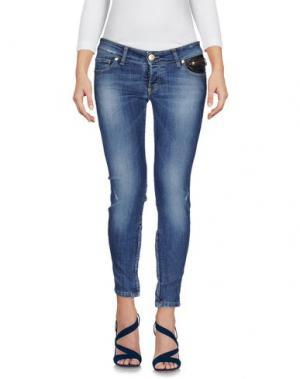 Джинсовые брюки HANNY DEEP. Цвет: синий