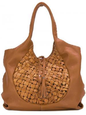 Woven shoulder bag Henry Beguelin. Цвет: коричневый