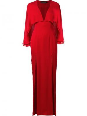 Платье кроя кейп Karen Haney. Цвет: красный
