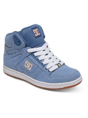 Кроссовки DC Shoes. Цвет: синий, бежевый