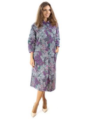 Халаты банные Алтекс.. Цвет: темно-фиолетовый, лиловый, серебристый
