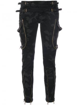Камуфляжные брюки скинни Faith Connexion. Цвет: чёрный