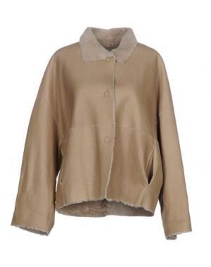 Куртка ANTONELLI. Цвет: бежевый